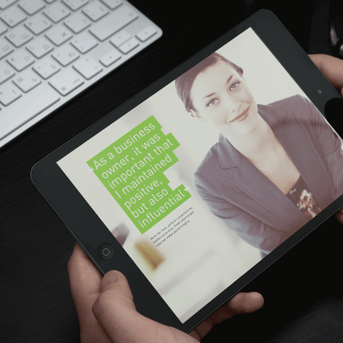 <strong>Tablet Application Design</strong>. Tablet application concept for mattress manufacturer Tempur Pedic.